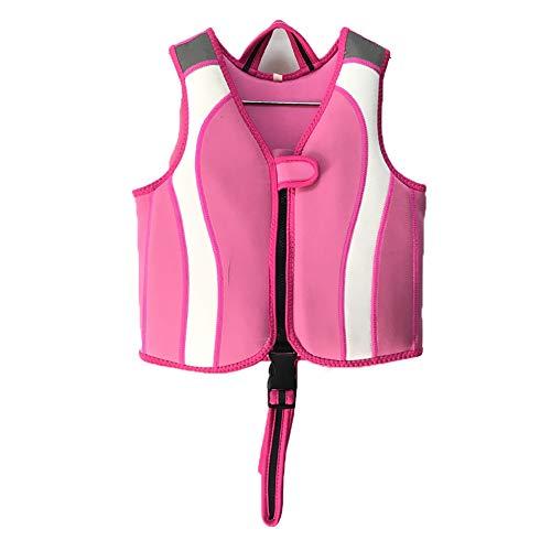 DASGF Zwemvest voor kinderen, voor het leren zwemmen, ideaal drijfvermogen zwemmen cadeau voor jongens en meisjes, draagbare zwemapparatuur, Epe drijfvermogen katoen, 2-13 jaar oud, 10-30 kg, roze