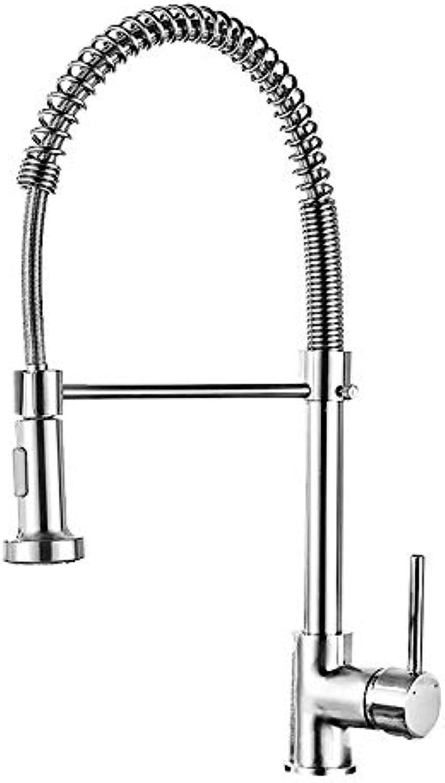 XPYFaucet Vollkupfergebürsteter Feder-Einhand-Einloch-Wasserhahn, Spülbecken Armatur Mischbatterie
