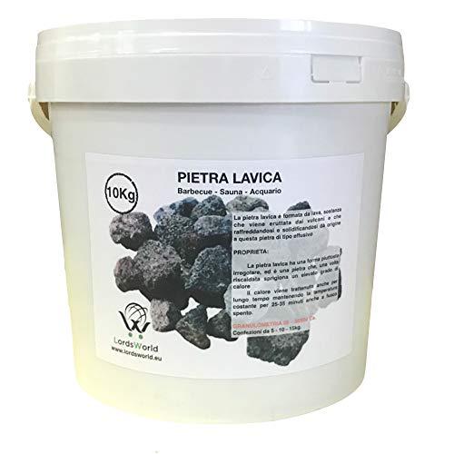 LordsWorld - Pietra Lavica - 10Kg Pietra Lavica per Barbecue, Sauna E Decorazione Acquario - Roccia Lavica per Barbecue E Fornelli A Gas - pietralavica-10kg