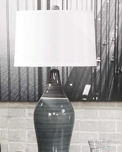Signature Design by Ashley - Niobe Ceramic Table Lamp - Set of 2 - Multicolored/Gray Arizona