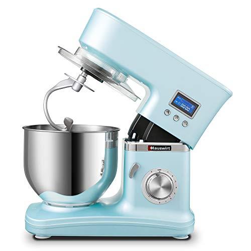 Robot da Cucina, Hauswirt Impastatrice Planetaria Multifunzione, Schermo LCD, 8 Velocità con Impulso, Tira Pasta,...