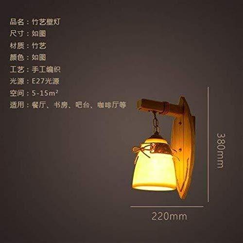 HYY-YY Pared de la cabecera de la lámpara de Pared Luces Minimalista, Salón Dormitorio Restaurante de bambú Artes Escalera Bar Ilumina el Camino de Estudio del Corredor Hotel Villa Sala de Pasillo de