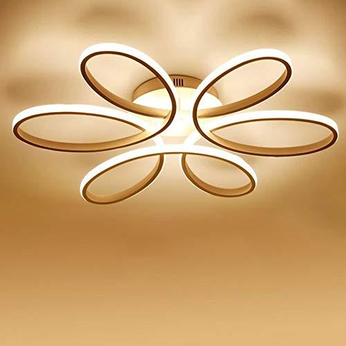 Wandun 85W Lámpara LED de techo Forma de flor creativa Plafon de Techo Lámpara aluminio acrílico Blanco Plafón de techo interior Salón/Comerdor Luz de techo Regulable [Clase de eficiencia energética A