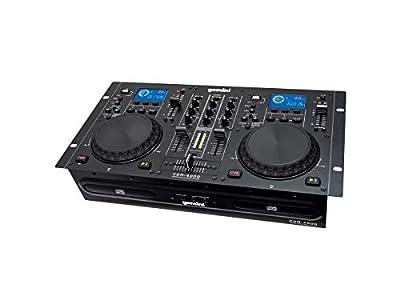 Gemini CDM Series CDM-4000 Professional Audio CD/MP3/USB DJ Media Player Console with Dual Jog Wheel, LCD Screen, Anti-Shock from Gemini