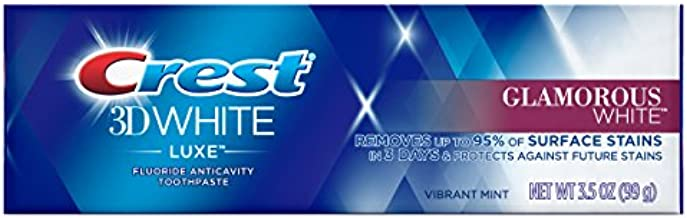 Crest 3D White Luxe Glamorous Toothpaste, Vibrant Mint, 3.5 Ounce