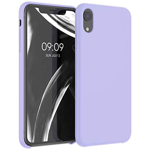 kwmobile Carcasa Compatible con Apple iPhone XR - Funda de Silicona para móvil - Cover Trasero en Lila