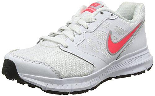 Nike Wmns Downshifter 6, Zapatillas de Running, Blanco (White/Hyper Punch-Lt MGNT Grey), 35.5 EU