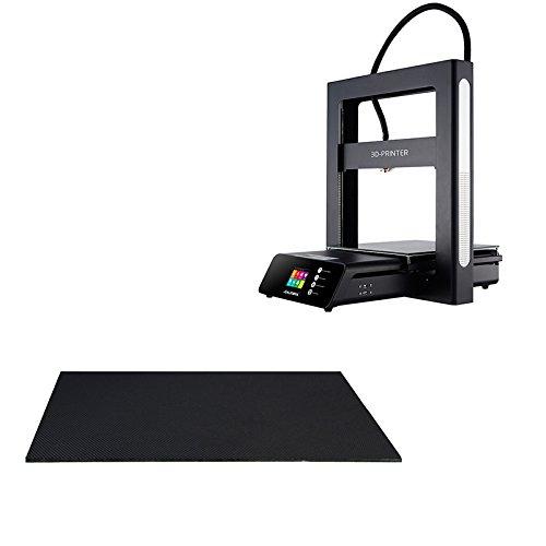 MASUNN Jgaurora 310 * 310 * 4Mm Black Diamond Glass Plate-Forme De Lit Chauffée pour Imprimante 3D