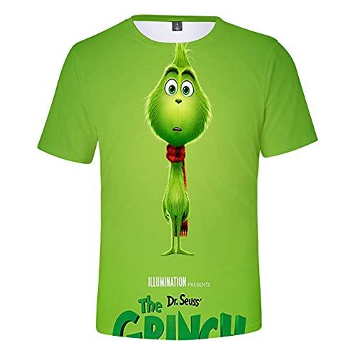 CCBZLY The Grinch - Camiseta deportiva de manga corta para niños, Grinch01, 160