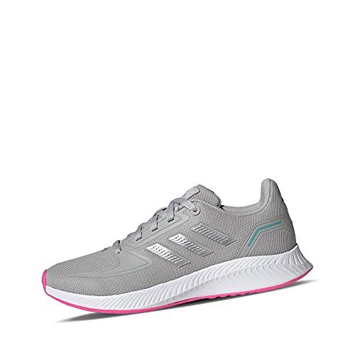 adidas Runfalcon 2.0 K Plateado/Rosa (Silver Metallic/Pink) Tela 38 EU