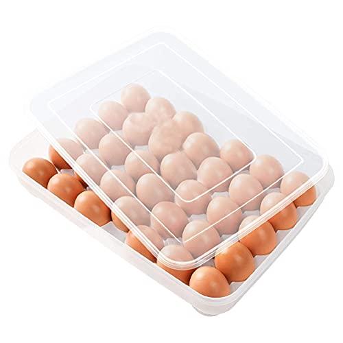 Envase para huevos Cartón de Huevos Plástico 34 Rejillas Caja Almacenamiento de...