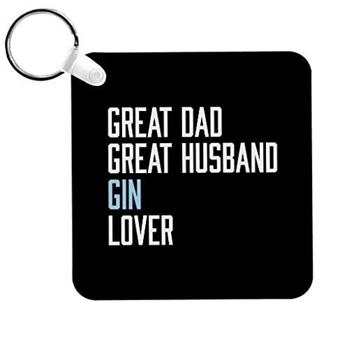 Cloud City 7 Great Dad Great Husband Gin Lover Keyring