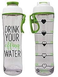 50 botellas de agua reutilizables libres de BPA fuertes con marcador de tiempo - Botellas motivacionales para hacer ejercicio - Horas marcadas - Beber más agua diariamente