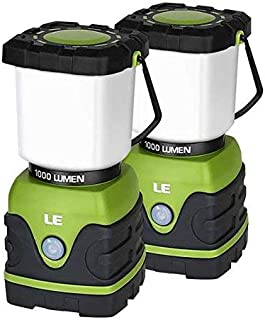 LE LED Camping Lantern, Battery Powered LED with 1000LM, 4 Light Modes, Waterproof Tent..