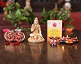 Diwali Gift Items Hampers – Pack of (Shiva Statue/ Set of 4 Matki Wax Diya Candle/Shubh Labh Door Hanging Decoration Toran/ Lakshmi Charan Paduka Sticke - Greeting Card)- Gift For Mother Father Sister Brother Friends employees corporate – Diwali Decoration Ideas For Home