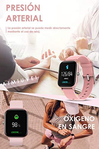 AIMIUVEI Smartwatch, Reloj Inteligente IP67 con Pulsómetro, Presión Arterial, 7 Modos de Deportes y GPS, Monitor de… 7