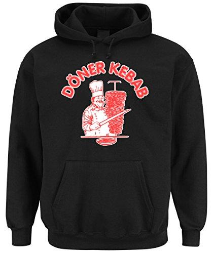 Döner Kebab Hooded-Sweater Black Certified Freak-XL