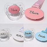 Personalisierte Schnuller mit Namen, personalisierter Schnuller-Clip (Pink)