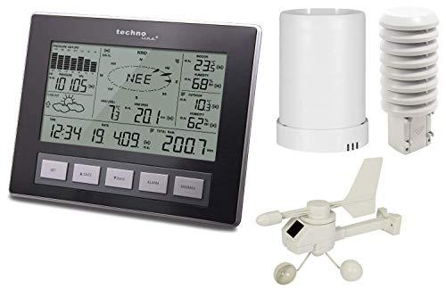 Technoline Profi Funk Wetterstation WS 2816 mit Windmesser Regenmesser PC Auswertung (mit Batterien)