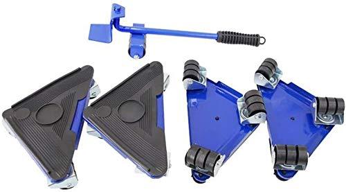 genneric Schwere Möbel bewegt Sliders 5 Stück, 360 ° Lifter Easy Mover Tool Set, ideal for die Zeichnet/Garderobe/Waschmaschine/Trockner/Sofas (Color : Blue)