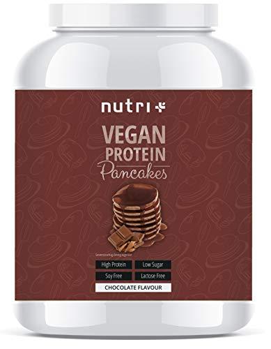 PROTEIN PANCAKES Veganistische chocolade 1kg - 6x meer proteïne dan normale pannenkoeken - koolhydraatarme pannenkoekenmix met laag suikergehalte en laag vetgehalte - chocoladebakmix