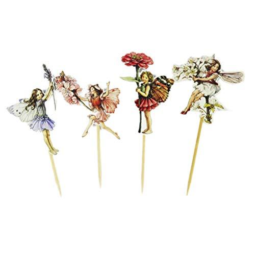 BESTOYARD Pastel de cumpleaños Toppers Flor Forma de Hada Cupcake Topper Pastel Selecciones Postre Decoración Pastel Decoración Suministros