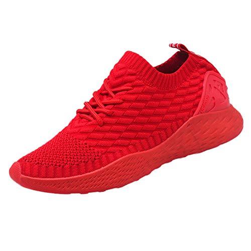 SOMESUN Herren Modisch Socken Schuhe Männer Jungen Modisch Einfarbig Atmungsaktiv Mesh Laufschuhe Klassisch Elastisch Sportschuhe Freizeit Weich rutschfest Leichtgewicht Wanderschuhe