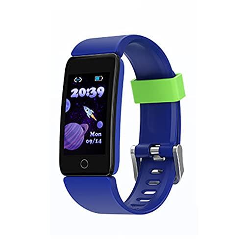 PYAIXF Pulsera Inteligente, 1,08 Pulgadas Impermeable Rastreador De Actividad Cronómetro Podómetro Música Bluetooth por Chico Chica Seguimiento De Fitness-Blue