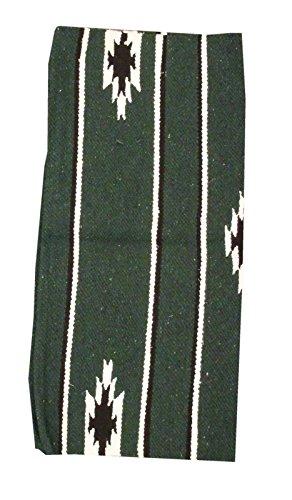 AMKA Westernpad grün Pony Sattel Navajo Decke 26 x 26 Inch, 66 x 66 cm Western Satteldecke für Ponysättel Saddle Blanket