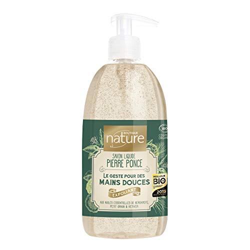Boutique Nature Savon Liquide Exfoliant à la Pierre Ponce Certifié Bio Flacon-Pompe 500 ml
