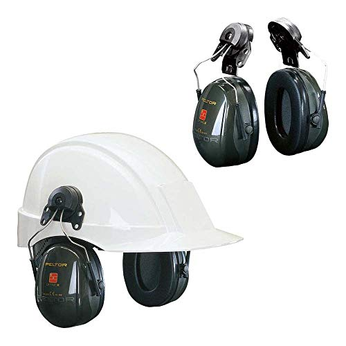 3M PELTOR Optime II Orejeras para casco Verdes 30 dB (1 orejera/caja), H520P3E-410-GQ 🔥