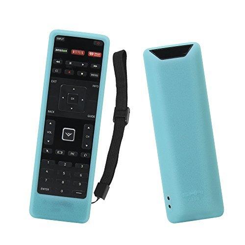 SIKAI Remote Case Compatible with Vizio XRT122 Smart TV Remote Silicone Case for VIZIO Smart LCD LED TV Remote [Shock Proof] Silicone Cover for Vizio XRT122 Remote with Lanyard (Glow in Dark Blue)