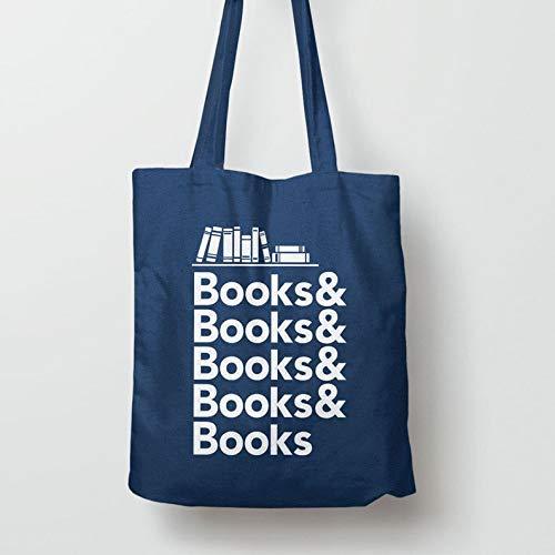Bücher-Tasche, Buch-Geschenk für Leser, Lese-Geschenk für Buchliebhaber, Buch-Geschenk für Bücherwurm, Nerd-Geschenk für Sie, Bibliothekstasche für Lehrer