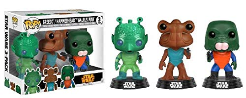 Funko Pop Star Wars Pack 3 Figuras de Vinilo Greedo, Hammerhead y Walrus, Multicolor (0889698114875)
