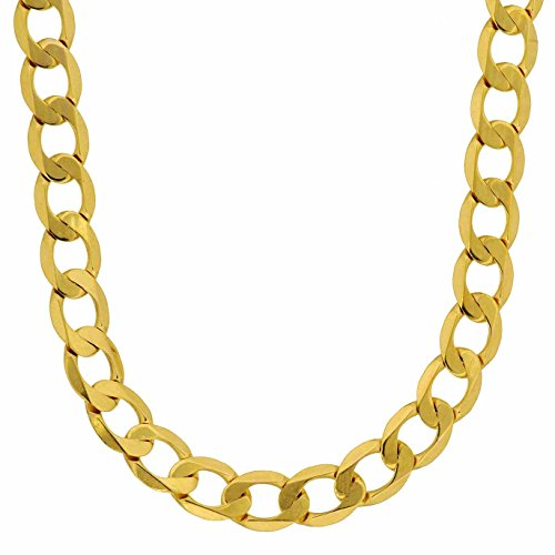 HOPLO 5,0 mm 333 Gold Panzerkette facettiert Goldkette 8 kt massiv Gold 19-60 cm (55)