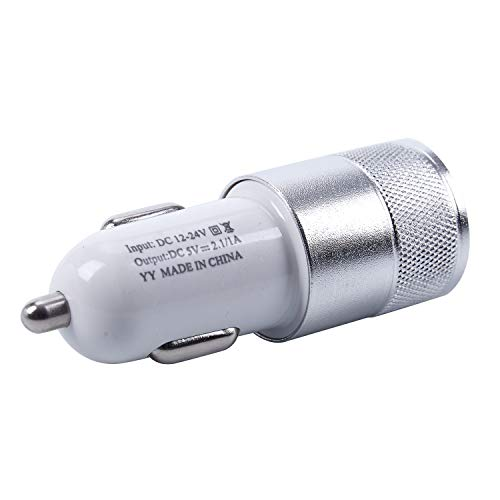 Huante - Cargador de mechero doble USB de aleación de aluminio para adaptador de mechero de coche (2 A)