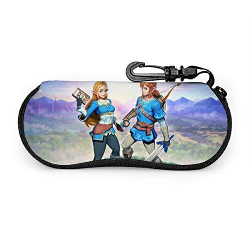 Estuche de gafas de anime para juego de gafas de sol, funda suave, bolsa de seguridad, ultra suave, ligero, cierre de neopreno