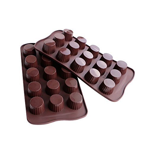 Big Save! Webake Candy Molds Silicone Chocolate Molds, Baking Mold for Jello, Keto Fat Bombs and Pea...