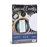 Favini Carta Metallizzata Special Events 120 gr/m2 A4 Risma da 20 Fogli Finitura Perlescente Ideale per Eventi Speciali Stampabile, Bianco, 21 x 29.7 cm