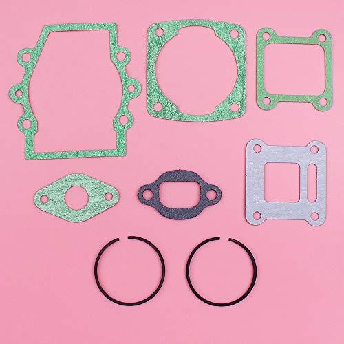 Tiempo MEIPA Juego Completo de Juntas de 40 mm x 1,5 mm Anillos de pistón Kit for Robin NB411 cortabordes Cortador Motor Repuesto