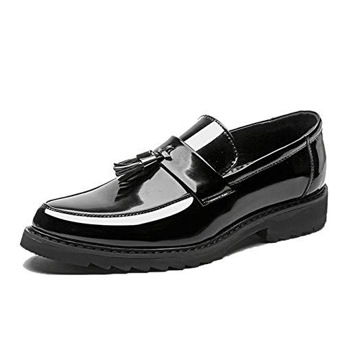 Mocasines de Hombre, Zapatos de Vestir de Uniforme de Charol de Estilo...