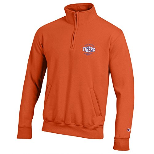 CHAMPION NCAA Herren Rundum Fleece 1/4 Zip Jacke, Herren, NCAA Men's All-Around Fleece 1/4 Zip, Orange, Large