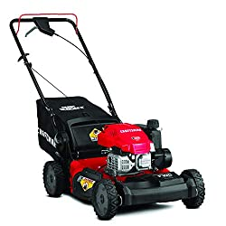 cheap Craftsman 12AVU2V2791 Self-propelled lawn mower 149cc front wheel drive, red and black