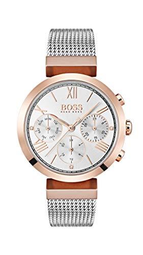 Hugo Boss Damen Analog Quarz Uhr mit Edelstahl Armband 1502427