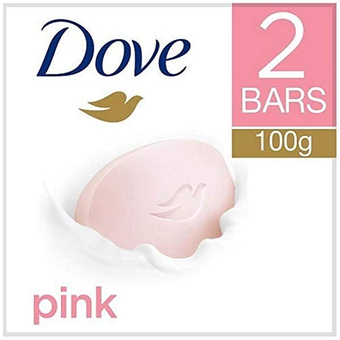 肉屋ネーピア連続的[Dove ] 鳩ピンク美容クリームバー2X100G - Dove Pink Beauty Cream Bar 2x100g [並行輸入品]