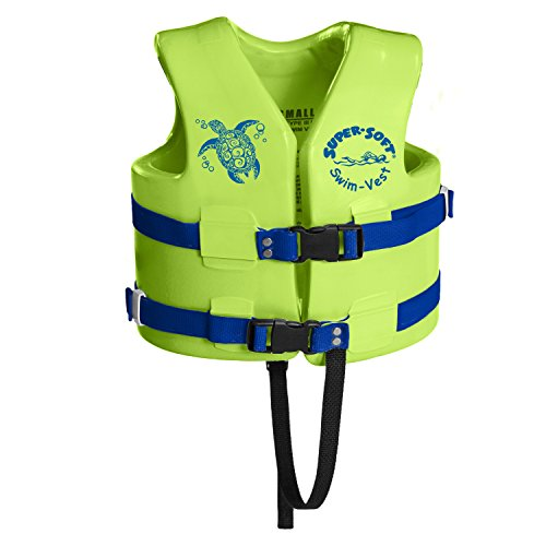 Texas Rec 1020539 Supersoft Swim Life Vest X-Small 21-23 Inch Kool Lime Green