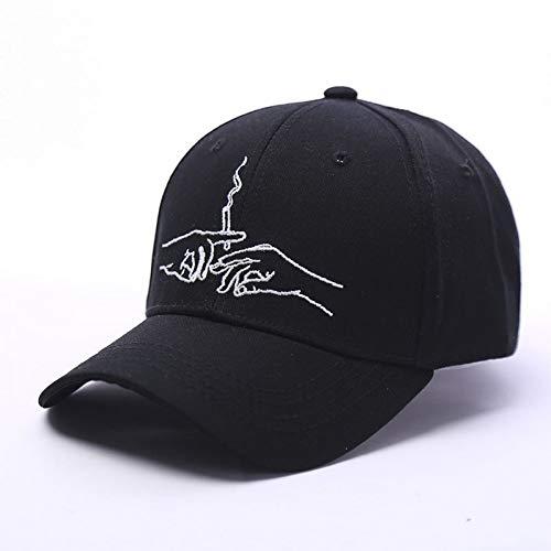 JKYJYJ Baseball Cap Marke Smoke Dad Hut Für Männer Frauen Hysteresenstickerei Hände Rauch Muster Trucker Cap Weed Bone Gorras