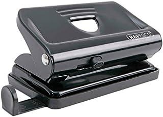 Rapesco 810 2-gaats metalen punch met 12 vellen capaciteit - zwart