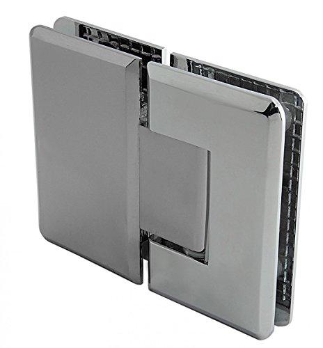 Konzept Design Glasbeschläge GmbH Duschtürbeschlag, Scharnier für Dusch-Tür, Talais', Glas-Glas, 180°, Chrom