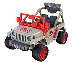 1. Power Wheels Jurassic World Jeep Wrangler